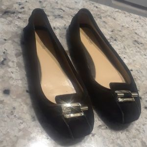Michael Kors Black Suede Leather Loafers